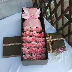 无私的关爱/26支粉色康乃馨礼盒