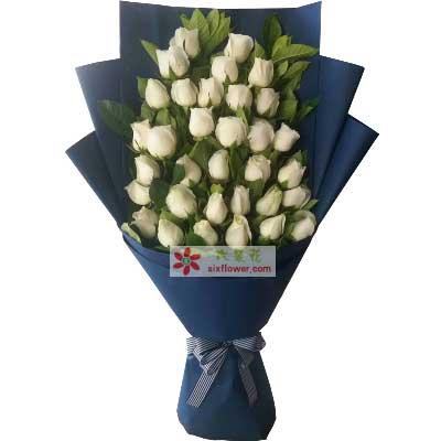 真的好想你/33枝白玫瑰
