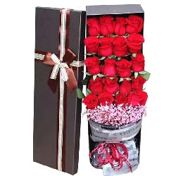 思念的浪花/21支红玫瑰礼盒