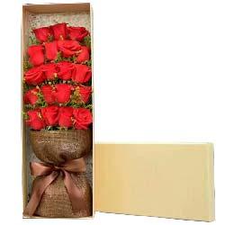 快乐生活永绽放/19支红色玫瑰礼盒