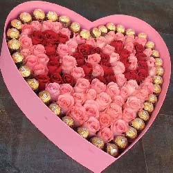 一生一世一辈子/99枝玫瑰巧克力礼盒