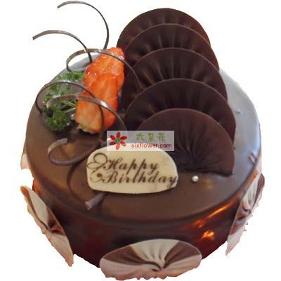 美丽人生/8寸圆形巧克力蛋糕