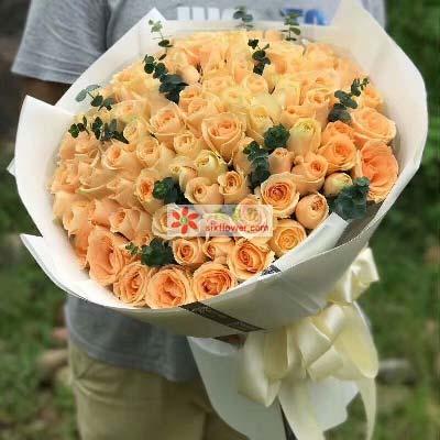 花好月圆/99支香槟玫瑰