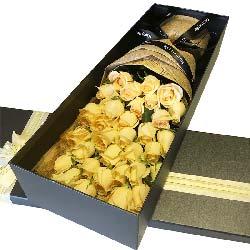 爱的相思/33支香槟玫瑰礼盒