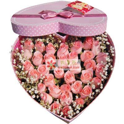 亲密爱人/36支粉玫瑰