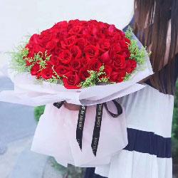 33支红色玫瑰,一往深情