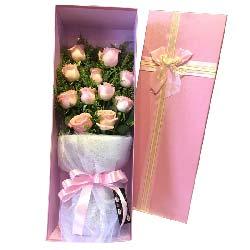 深深的爱/11枝粉玫瑰礼盒