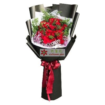 一生美丽/33枝玫瑰巨型花束