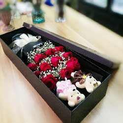 11朵红玫瑰,礼盒装,爱到永久