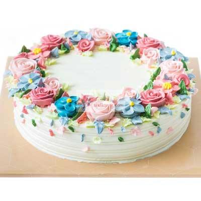 8寸玫瑰花鲜奶蛋糕,生日吉祥