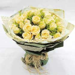 21朵香槟玫瑰,浓浓的爱意
