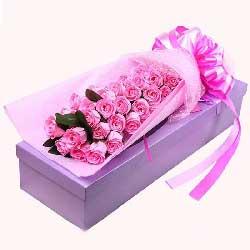 29朵戴安娜玫瑰,礼盒装,浪漫快乐的每一天