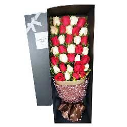 33朵玫瑰礼盒,茫茫人海中我爱你