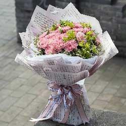 29朵粉色康乃馨,真诚的祝福