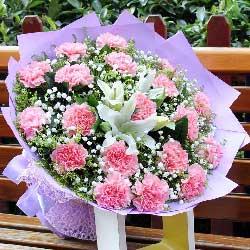 19朵粉色康乃馨,思念与祝福