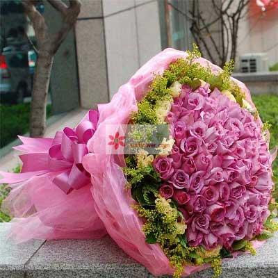 99朵紫玫瑰,无穷的思念与祝福