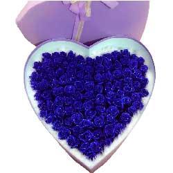 99朵蓝玫瑰,礼盒装,爱你不变