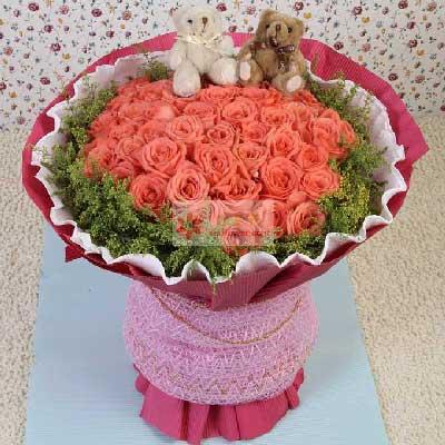 30朵粉玫瑰,我爱你幸福满溢