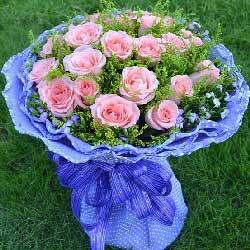 21朵戴安娜玫瑰,一生一世不分离
