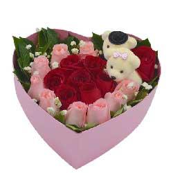 18朵玫瑰,礼盒装,让我爱你一生一世