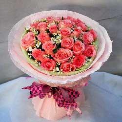 25朵粉玫瑰,爱散发芬芳