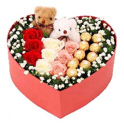 9朵玫瑰,9颗巧克力,忘不了你的倩影