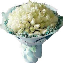 你是我的最爱/99枝白色玫瑰