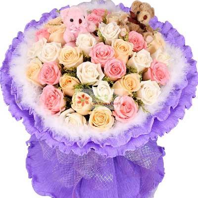 33朵玫瑰,给你快乐每一天