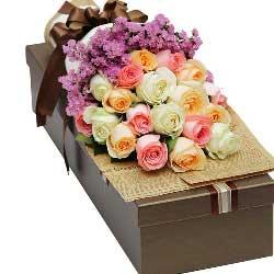 19朵玫瑰,礼盒装,彼此的甜蜜