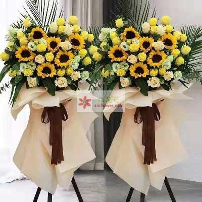 20朵黄玫瑰,8朵香槟玫瑰,完美人生