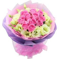 11朵戴安娜玫瑰,11朵桔梗,不断迷恋着你的好
