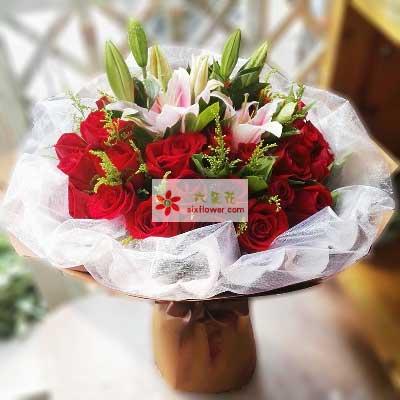 心里都是你/33支红色玫瑰