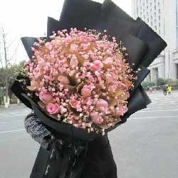 为你心醉/33枝粉玫瑰巨型花束