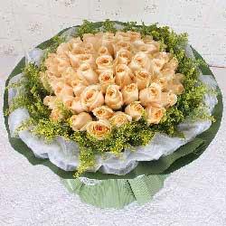 50朵香槟玫瑰,我喜欢与你在一起