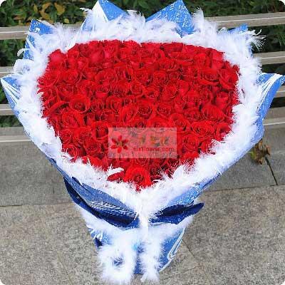 99朵红玫瑰,我的世界有你最美