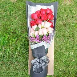 19朵玫瑰,礼盒装,爱你我执迷不悟
