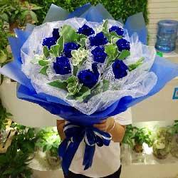 11朵蓝色玫瑰,遇到你真好