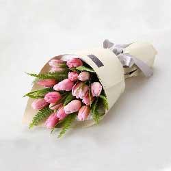 19朵粉色郁金香,渴望拥有你