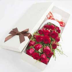 19朵红玫瑰,礼盒装,谢谢你给我的爱