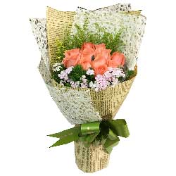 11朵艳粉玫瑰,你是我的好风景与人生领悟