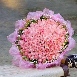 40朵戴安娜粉玫瑰,有你相伴