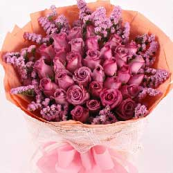 35朵紫玫瑰,与你不离不弃