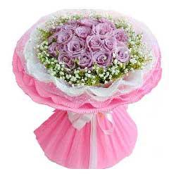 19朵紫玫瑰,愿与你开启浪漫人生路