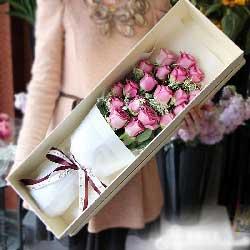 19朵紫玫瑰,礼盒装,越爱越深