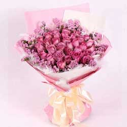30朵紫玫瑰,愿我们相爱到永久