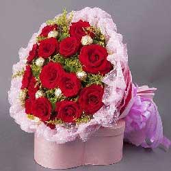 16朵红玫瑰巧克力,浓浓深情