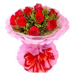 10朵红玫瑰,长相守