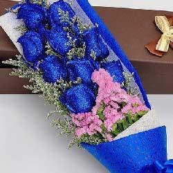 9支蓝色妖姬,爱的温度
