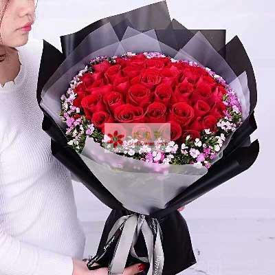 爱不停/33支红色玫瑰