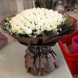 99朵白玫瑰,永生永世的与你共牵手